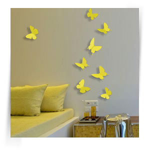 Бабочки желтые