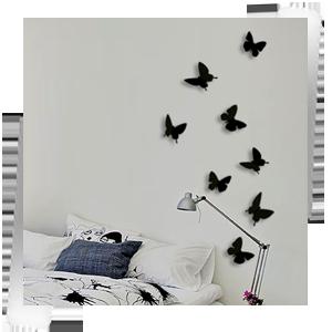 Бабочки черные