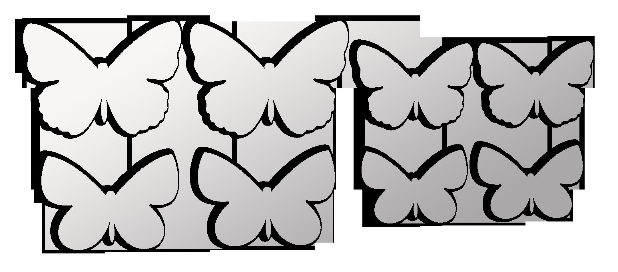 Декор стен бабочками своими руками трафарет 21