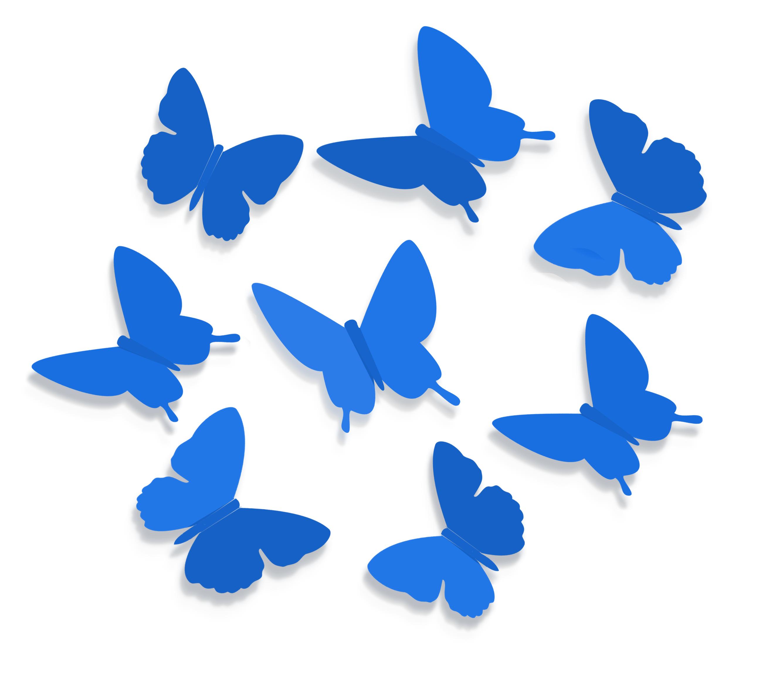Как сделать бабочки на стену из какой бумаги