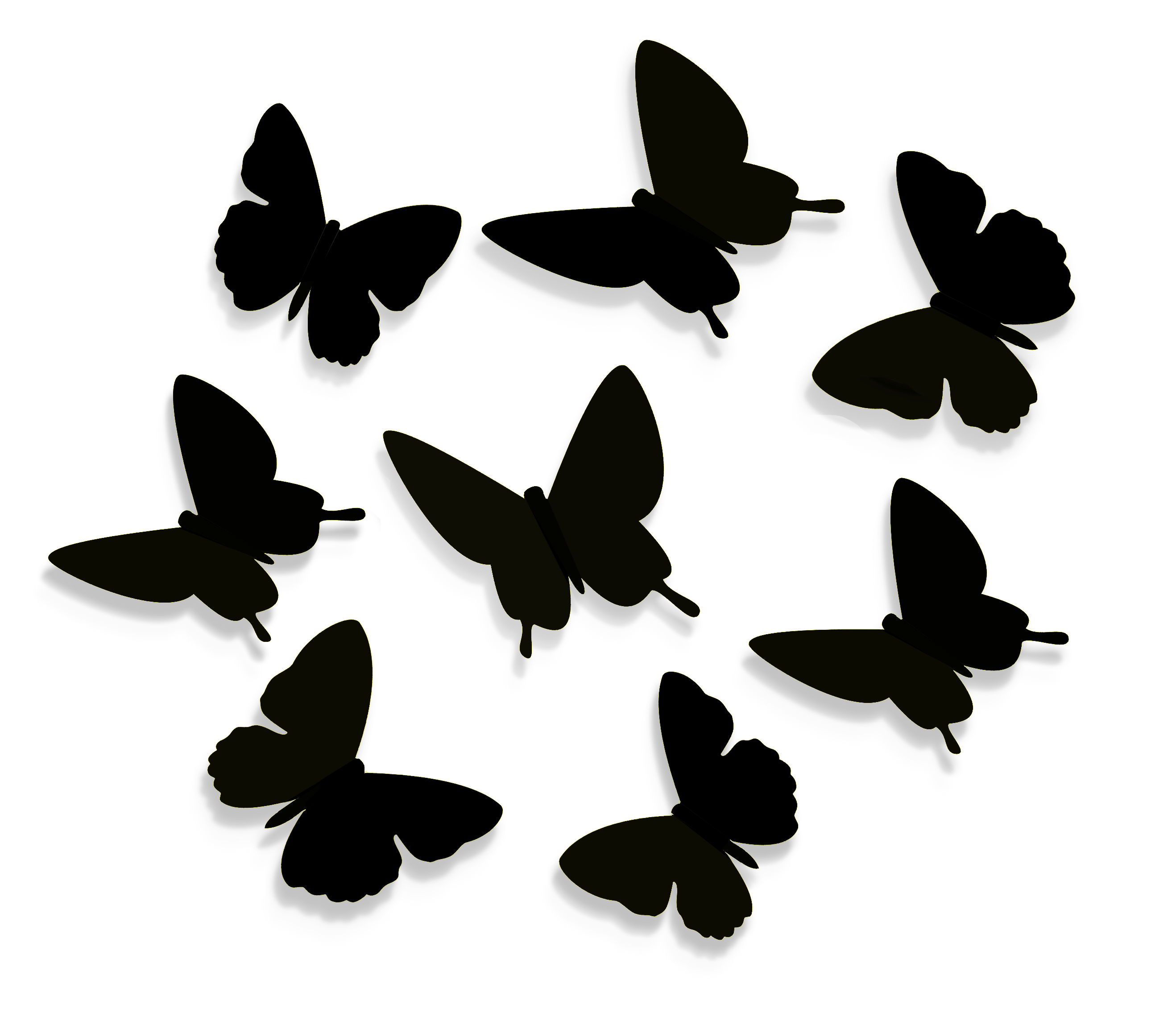 Контур бабочек для вырезания на стену из бумаги своими руками
